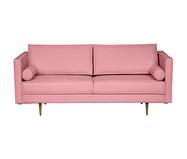 Sofá em Linho Audrey - Rosa Flamingo   WestwingNow