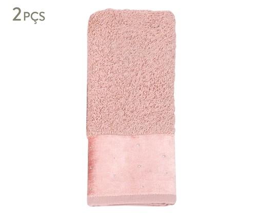 Jogo de Toalhas de Lavabo Cristal Rosa - 440g/m², Rosa | WestwingNow