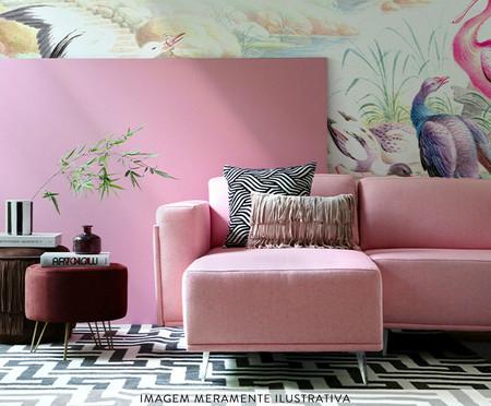 Sofá com Chaise Esquerda Antonio - Rosa Flamingo | WestwingNow
