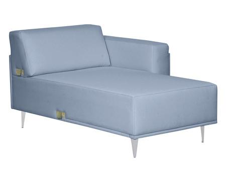 Sofá com Chaise Esquerda Antonio - Azul Nuvem | WestwingNow