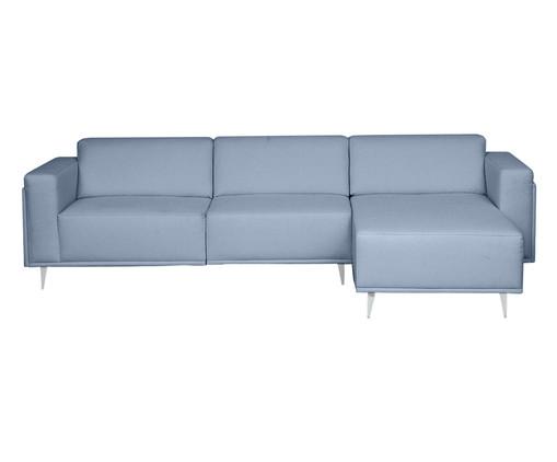Sofá com Chaise Esquerda Antonio - Azul Nuvem, Azul   WestwingNow