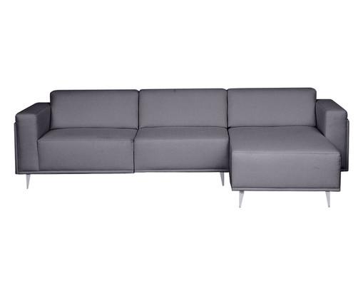 Sofá com Chaise Esquerda Antonio - Cinza Cimento, Cinza | WestwingNow