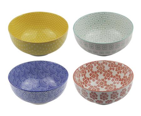 Jogo de Bowls em Cerâmica Nora  - Colorido | WestwingNow