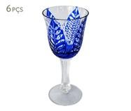 Jogo de Taça de Vinho em Vidro Thelma - Azul | WestwingNow