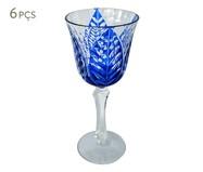 Jogo de Taça para Água em Vidro Thelma - Azul | WestwingNow