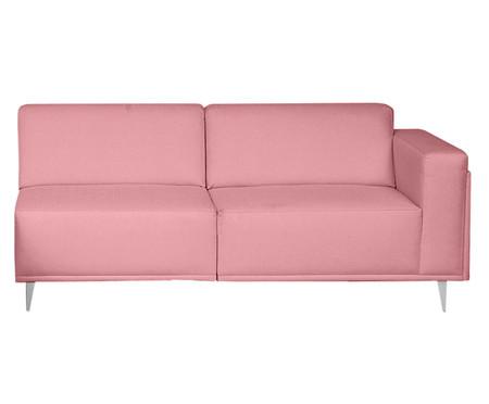 Sofá com Chaise Direita Antonio - Rosa Flamingo | WestwingNow