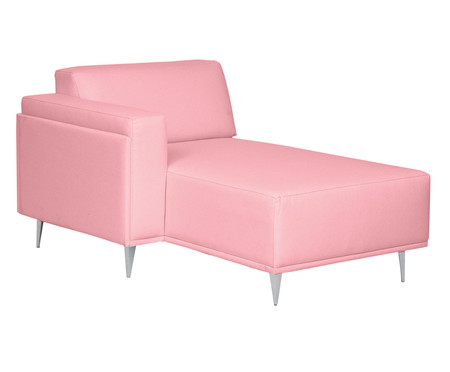 Sofá com Chaise Direita Antonio - Rosa Flamingo   WestwingNow