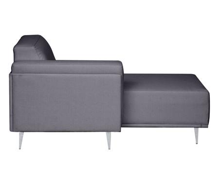 Sofá com Chaise Direita Antonio - Cinza Cimento | WestwingNow
