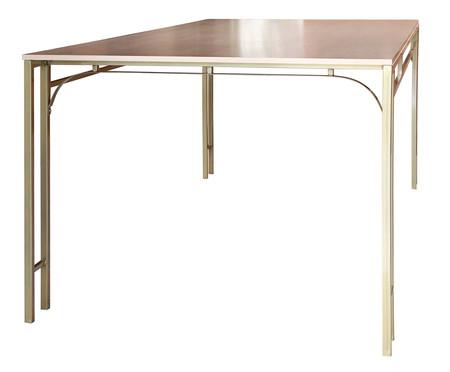 Mesa de Jantar Retangular Fjodor - Dourado | WestwingNow