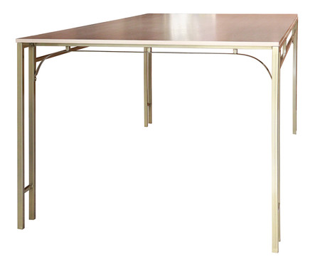 Mesa de Jantar Retangular Fjodor - Dourado   WestwingNow
