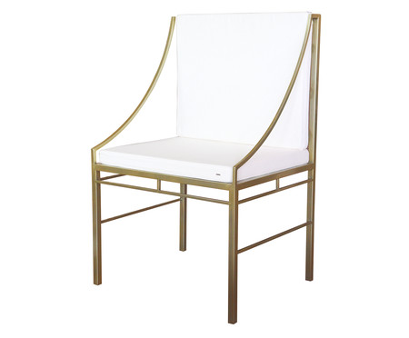 Cadeira Ponta de Mesa Hador - Dourado   WestwingNow