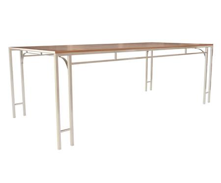 Mesa de Jantar Retangular Fjodor - Branco | WestwingNow