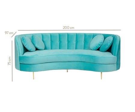 Sofá Living em Veludo Marilyn - Verde Tiffany | WestwingNow