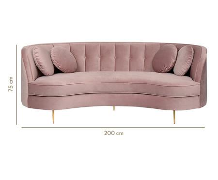 Sofá Living em Veludo Marilyn - Rosé | WestwingNow