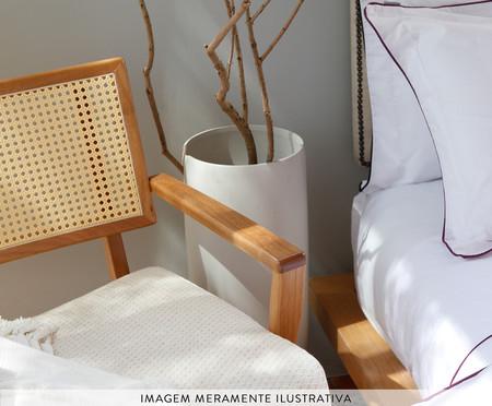 Duvet com Vivo Basics Branco e Violeta - 200 Fios | WestwingNow
