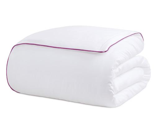 Duvet com Vivo Basics Branco e Violeta - 200 Fios, Branco e Violeta | WestwingNow