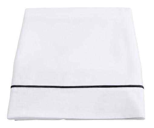 Lençol Superior com Vivo Basics Branco e Preto - 200 Fios, Branco e Preto | WestwingNow