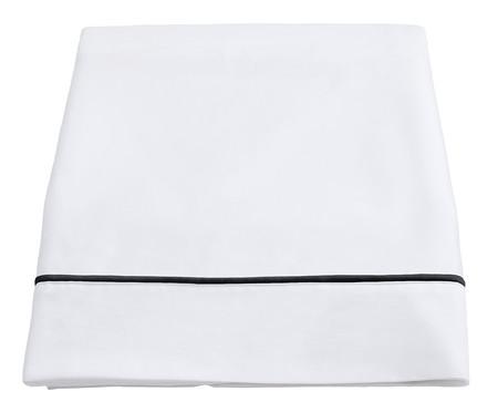 Lençol Superior com Vivo Basics Branco e Preto - 200 Fios | WestwingNow