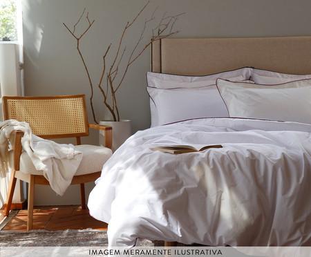 Fronha com Vivo Basics Branco e Violeta - 200 Fios | WestwingNow