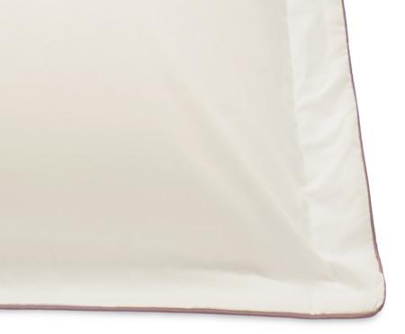 Fronha com Vivo Basics Palha e Capuccino - 200 Fios | WestwingNow