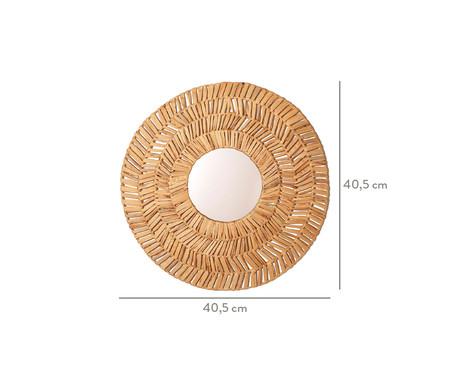 Espelho de Parede em Fibra Natural Lais - 40,5cm | WestwingNow