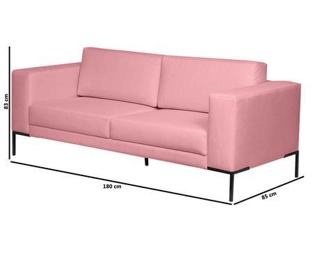 Sofá Otto - Rosa Flamingo | WestwingNow