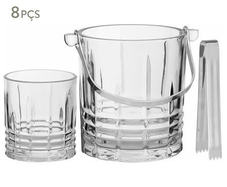 Jogo de Gelo com Copos para Whisky em Cristal  Sherlock - Transparente | WestwingNow