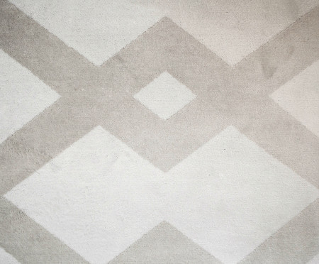 Tapete Redondo Belga Geometric Vory - Cinza e Prateado | WestwingNow