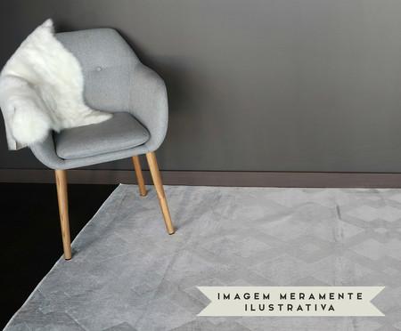 Tapete Belga Geometric Vory - Cinza e Prateado | WestwingNow