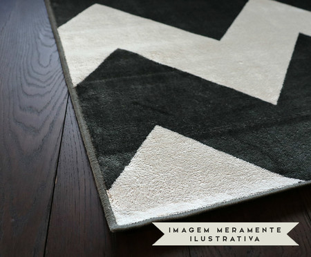 Tapete Belga Geometric Merlina - Preto e Branco | WestwingNow
