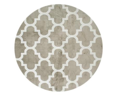 Tapete Redondo Belga Geometric Adeleide - Bege e Branco | WestwingNow