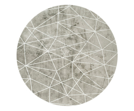 Tapete Redondo Belga Geometric Gorgeous - Bege | WestwingNow