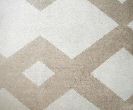 Tapete Redondo Belga Geometric Vory - Bege e Branco | WestwingNow