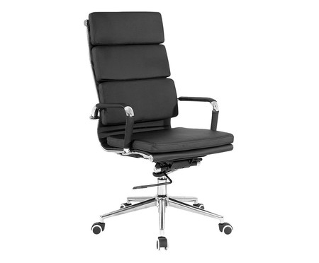 Cadeira Office Soft Alta - Preto   WestwingNow