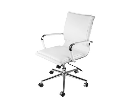 Cadeira Office Soft Baixa - Branco   WestwingNow