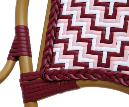 Cadeira Bistrô Reno - Bordô e Rosa | WestwingNow