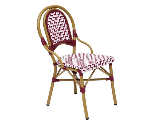 Cadeira Bistrô Reno - Bordô e Rosa, Vermelho | WestwingNow