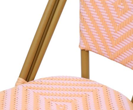 Cadeira Bistrô Besbre - Rosa e Laranja | WestwingNow
