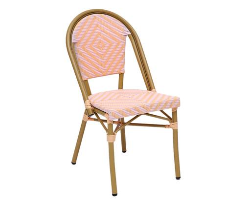 Cadeira Bistrô Besbre - Rosa e Laranja, Rosa | WestwingNow