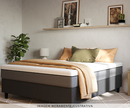 Cama Box Emma Original - Cinza | WestwingNow