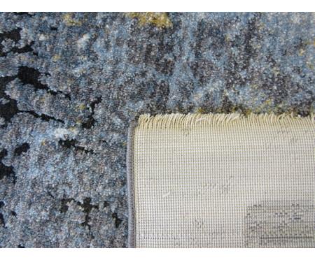 Tapete Pequeno Turco Manhattan - Cinza e Azul   WestwingNow