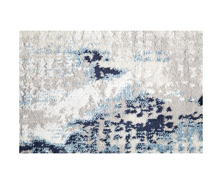 Tapete Turco Super Soft Abstrato 2 Tons - Azul | WestwingNow