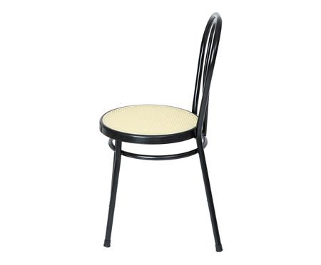 Jogo de Cadeiras Viena - Preto e Natural   WestwingNow
