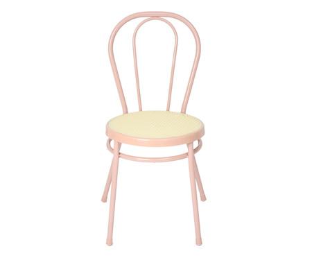 Jogo de Cadeiras Viena I - Rosa e Natural   WestwingNow