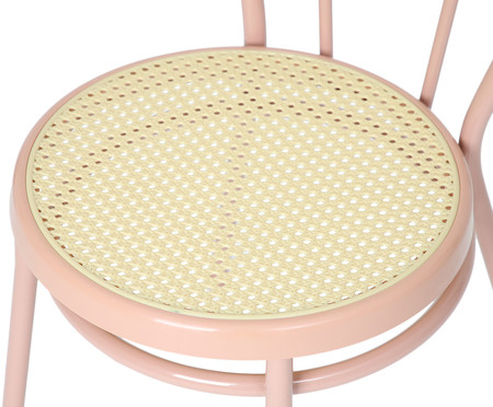 Jogo de Cadeiras Viena - Rosa e Natural   WestwingNow
