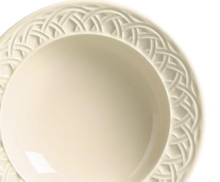 Jogo de Prato Fundo em Cerâmica Cestino - Cru | WestwingNow