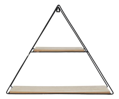 Prateleira de Madeira e Ferro Geo Forms Triangle - Preta e Natural, Preto, Natural | WestwingNow
