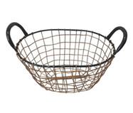 Cesto Decorativo Bent Wire High - Preto e Acobreado | WestwingNow
