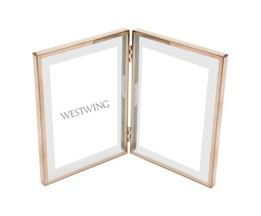 Porta-Retrato Duplo Shiny Frame - Acobreado, Cobre   WestwingNow
