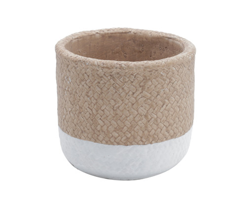 Vaso de Concreto Emuna - Branco e Rosa, Branco, Rosa | WestwingNow
